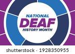national deaf history month.... | Shutterstock .eps vector #1928350955