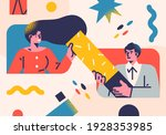 flat style business people... | Shutterstock .eps vector #1928353985