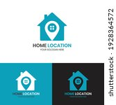 home location logo with line... | Shutterstock .eps vector #1928364572