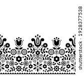 polish folk art vector seamless ... | Shutterstock .eps vector #1928377538