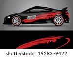 racing car decal wrap design.... | Shutterstock .eps vector #1928379422