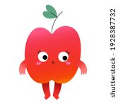 cute apple fruit character with ... | Shutterstock .eps vector #1928387732