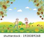 illustration of the scenery of... | Shutterstock .eps vector #1928389268