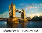 Tower Bridge By River Thames ...