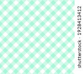 peppermint diagonal gingham.... | Shutterstock .eps vector #1928413412
