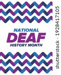 national deaf history month.... | Shutterstock .eps vector #1928417105