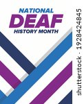 national deaf history month.... | Shutterstock .eps vector #1928424845