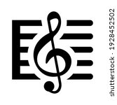 musical score icon isolated... | Shutterstock .eps vector #1928452502