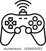 intelligent gamepad with motion ... | Shutterstock .eps vector #1928453552