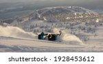 Pro Snowmobiler Makes A Turn...