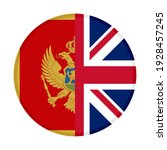 round icon with montenegro and... | Shutterstock .eps vector #1928457245