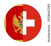 round icon with montenegro and... | Shutterstock .eps vector #1928462285