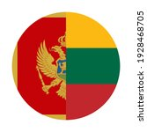 round icon with montenegro and... | Shutterstock .eps vector #1928468705