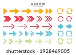 flat modern arrow vector in png ... | Shutterstock .eps vector #1928469005