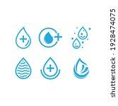water drop logo template vector ... | Shutterstock .eps vector #1928474075