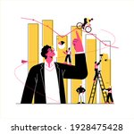 financial advisor illustration  ... | Shutterstock . vector #1928475428