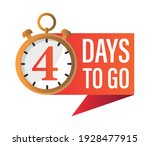 4 days to go  stopwatch design... | Shutterstock .eps vector #1928477915