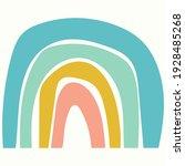 scandinavian cute rainbow... | Shutterstock .eps vector #1928485268