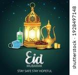 lantern  sanitizer  mask  tea... | Shutterstock .eps vector #1928497148