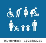 priority symbols for disabled... | Shutterstock .eps vector #1928503292