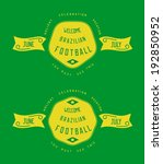 vintage label design with... | Shutterstock .eps vector #192850952