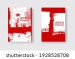 red ink brush stroke on white... | Shutterstock .eps vector #1928528708