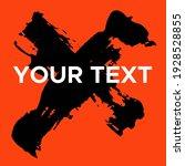 vector cross shape on orange.... | Shutterstock .eps vector #1928528855