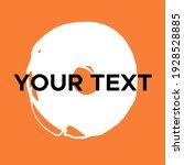 vector round shape on orange.... | Shutterstock .eps vector #1928528885