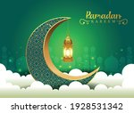 crescent islamic with lantern...   Shutterstock .eps vector #1928531342