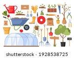 garden tools. vector gardening...   Shutterstock .eps vector #1928538725