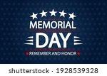 blue patriotic memorial day... | Shutterstock .eps vector #1928539328