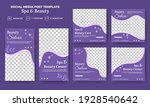 set of editable social media... | Shutterstock .eps vector #1928540642