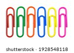 Top view paper clip isolated...