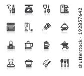 set of flat icons about cooking ... | Shutterstock .eps vector #192857642