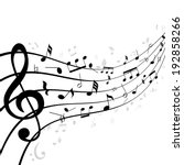 music notes on a stave or staff ... | Shutterstock . vector #192858266
