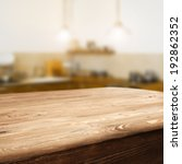 space of wooden top and retro...   Shutterstock . vector #192862352