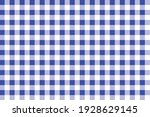Tablecloth With Blue And White...