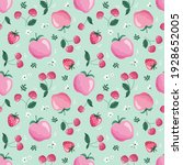 summer seamless pattern with... | Shutterstock . vector #1928652005