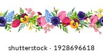 vector horizontal seamless... | Shutterstock .eps vector #1928696618