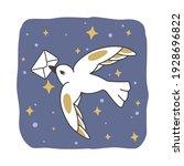 White Bird With Envelope In...