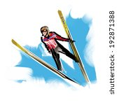 ski jump | Shutterstock . vector #192871388