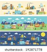 industrial buildings factories... | Shutterstock . vector #192871778