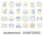vip line icons. casino chips ... | Shutterstock .eps vector #1928722052
