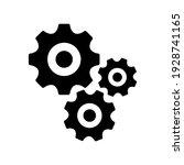 gears icon flat vector....   Shutterstock .eps vector #1928741165