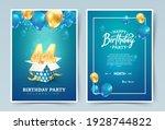 44th years birthday vector... | Shutterstock .eps vector #1928744822