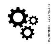 gears icon flat vector....