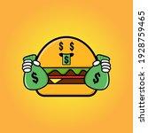Cute Burger Cartoon Mascot....