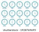 wall clocks set on white... | Shutterstock .eps vector #1928769695