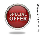 special offer pointer icon on... | Shutterstock . vector #192878348