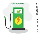 electric car vehicle charging... | Shutterstock .eps vector #1928783828